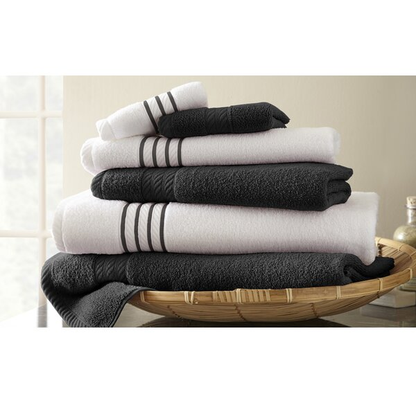 Lapeer 6 Piece 100% Cotton Towel Set by Three Posts